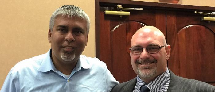 Representative Sam Singh with MAGE Labor Representative/Counsel Peter Neu